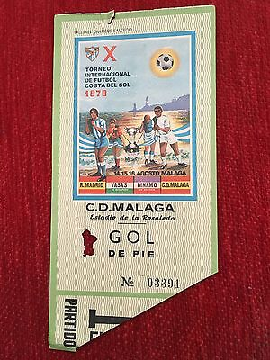Ticket X Tournament Costa Del Sol 1970 Vasas Budapest Real Madrid Match 1