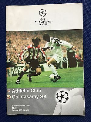 Programme Official Athletic Club Bilbao Galatasaray Champions 1998 1999