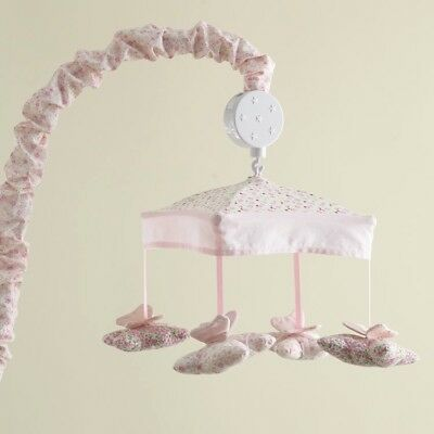 Laura Ashley Baby Nursery Butterfly Mobile with Music
