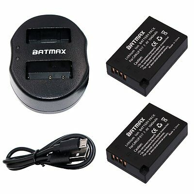 LP-E17 Battery 2-Pack & Compact USB Dual Charger Canon EOS M3 750D 760D Kiss X8i