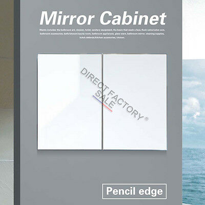 750 X 720 X150MM Bathroom Vanity Shaving Mirror Medicine Cabinet Pencil Edge New