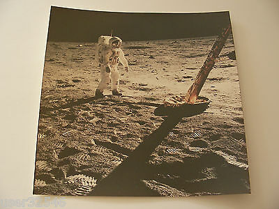 Apollo 11 Buzz Aldrin EVA Lunar Module Leg A Kodak Paper 8x8 Vintage NASA Photo