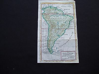 1742 Cowley Map South America Antique 275 Yrs Old