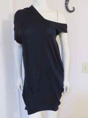 NWT $188 Kaylee Tankus One Shoulder Asymmetrical Black Knit Dress One Size
