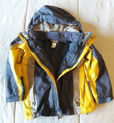 REI Blue/Gray/Gold 3-in-1 Jacket System Boys Size 6/7 (XS)