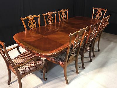 Grand Regency Style Mahogany Designer Dining Set Professionally French Polished