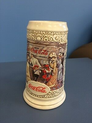 "COCA COLA COLLECTIBLE STEIN 1994 ""THE SODA FOUNTAIN"" Coke Rare HTF Free Ship"