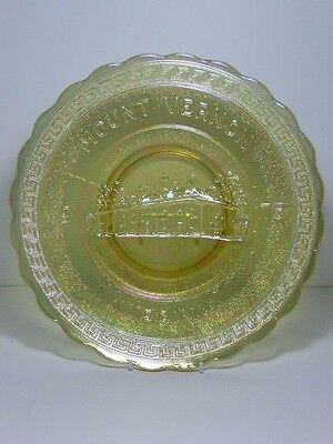 ACGA American Carnival Glass Mount Vernon Virginia 1972 Greek Key Rim 10 1/4""