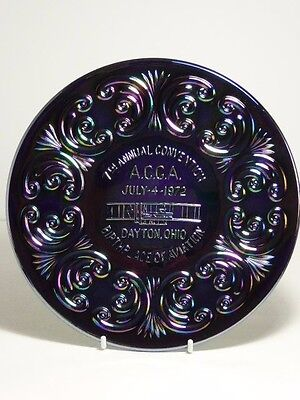 Carnival Glass 1972 7th  ACGA Convention Plate Dayton Ohio Aiviation Imperial
