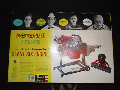Vintage Revell (1961) Motorized Chrysler Slant Six Engine 3 Of 3 Bags Sealed