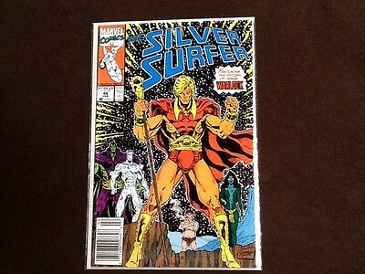 Silver Surfer Vol 3 #46 Return Of Adam Warlock, Re-Intro Gamora & Pip The Troll
