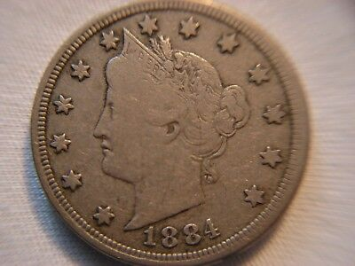 1884 Liberty Nickel...Better Date...Lower Mintage Coin