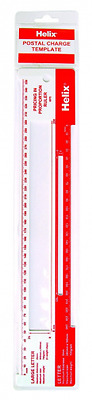 Helix Royal Mail Postal Parcel Size Template Post Ruler Letter Postage Guide PIP