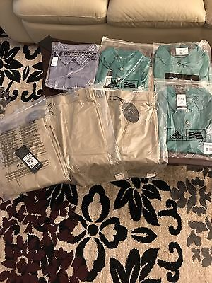 Huge Lot Of Golf Shorts & Shirts Brand New With Tags Adidas Under Armour
