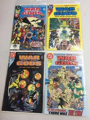 War Of The Gods #1-4 Complete Run Limited Series Set (1991) Dc Comics Hot! Nm