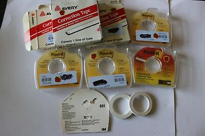 Avery / Post it Self-Adhesive Correction Tape 651 and 05101 cr-16
