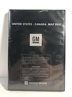 GM GENERAL MOTORS United States / Canada Navigation Map Disc Version ...