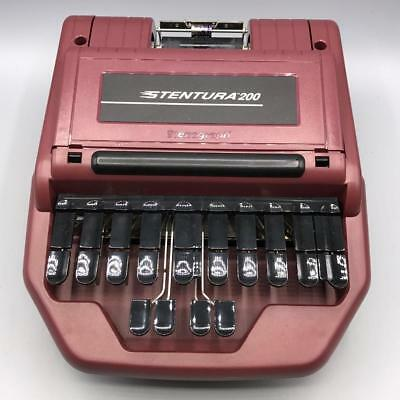 Stentura 200 Stenograph Steno Machine Court Reporting Set Kit