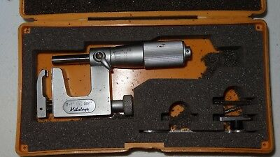 "Mitutoyo No. 117-107 Multi- Anvil Micrometer 0-1"" .0001"""