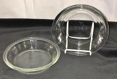 "3 Pyrex CRYSTAL * SMOOTH RIM* 6"" INDIVIDUAL PIE PLATES *#206*"