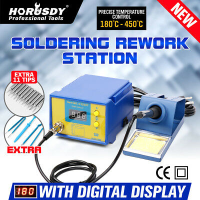 KATSU Electric Soldering Iron Solder Station Kit Lead Welding Digital Display