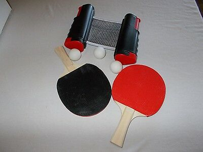Trademark Innovations play anywhere table tennis game set with paddles balls