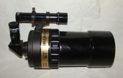 Vintage Celestron C90 Black Tube telescope with Case Made in USA
