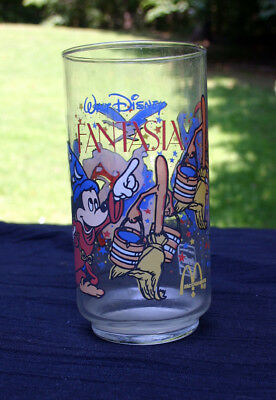 McDonalds Walt Disney Fantasia Collectors Glass vintage Coca Cola 1980s cup