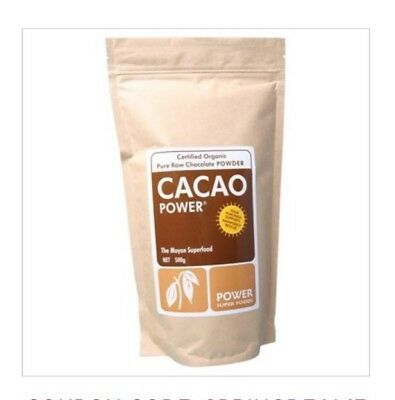 ✅POWER SUPER FOODS Cacao Powder 500g Certified Organic Raw