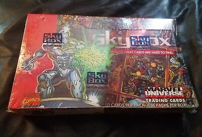 unopened sealed box Marvel Trading Cards 1993 Universe
