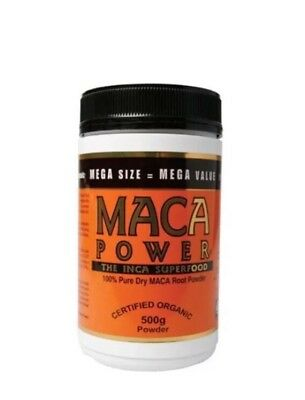 ✅POWER SUPERFOODS 500g Maca Powder Deluxe 100% Pure Dry Root Powder Organic