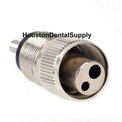 Dental High Speed Handpiece Adapter Connector Tool Changer Converter 4 to 2 Hole