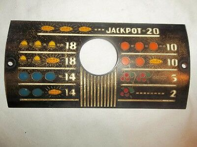 Slot Machine Parts Front Pay Card Plate  Golden Nugget
