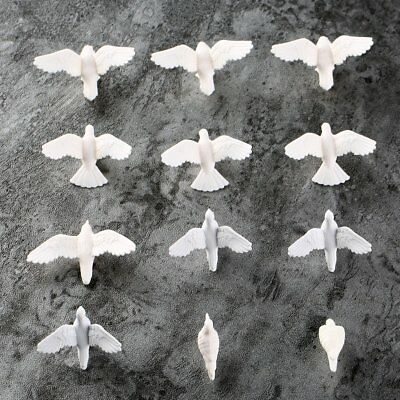 20Pcs Plastic Birds Small Figure Toy Pigeon Dove Bird Of Peace Scenery Layout