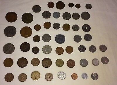 Mixed Lot Of Foreign Antique Currency