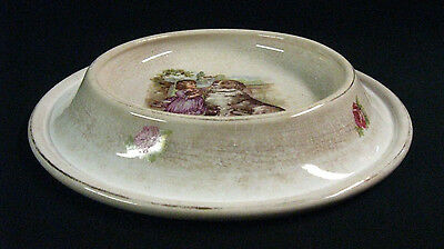 """Circa 1905 Ceramic """"Royal Baby Plate"""", Signed, Unusual Shape, Exc. Cond! REDUCED"""