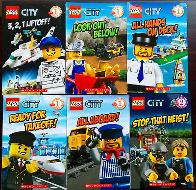 6 x LEGO CITY Scholastic Readers ADVENTURES IN LEGO CITY Like New LEARNING