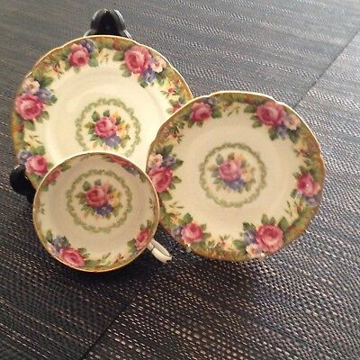 Vintage PARAGON Gold Rimmed Fine Bone China  Tea Cup Saucer and Plate
