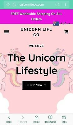 Highly Profitable New Online Business For Sale | Popular Unicorn Fashion & Gifts
