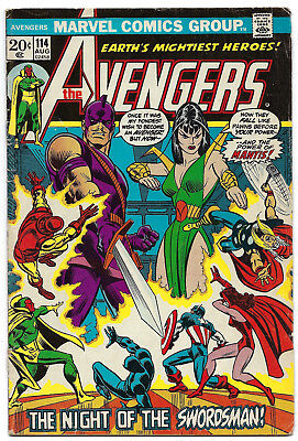 Avengers #114 Early Mantis Appearance & 1st Cover 1st Print VG