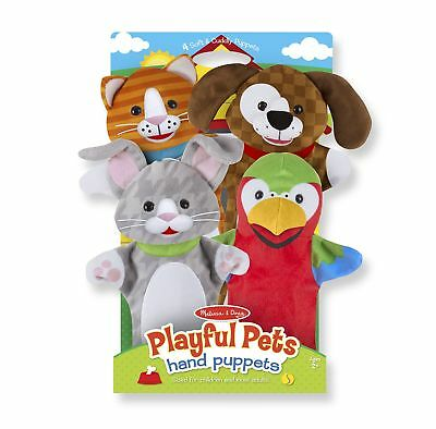 Playful Pets Hand Puppets by Melissa & Doug Set of 4 Free Shipping