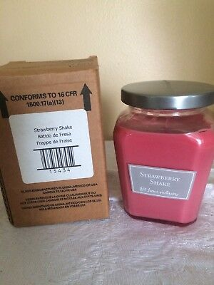 "Home Interiors ""Strawberry Shake"" Petite Jar Candle~NIB~"