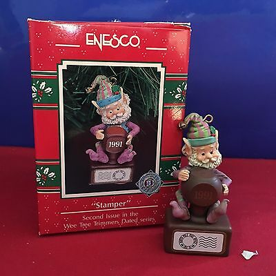Enesco Treasury Ornament Wee Tree Trimmers Series Stamper 1991 NEW E4
