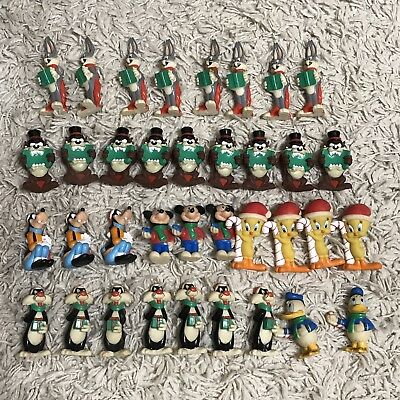 Vintage Looney Tunes 1997 Lot Of 36 Disney Christmas String Lights Come