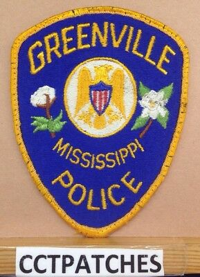 Greenville, Mississippi Police Shoulder Patch Ms