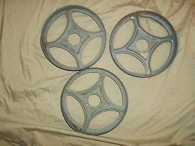 "3 Slot Machine Parts Reels 8"" Round"