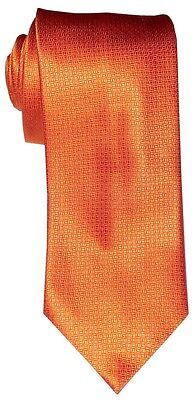 $285 New Brioni Satin Orange Fine Handmade Silk Mens Neck Tie
