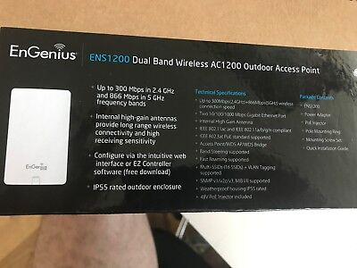 EnGenius ENS1200 Dual Band Wireless AC1200 Outdoor Access Point