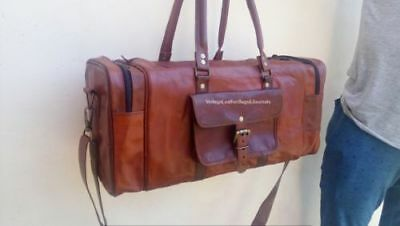 Duffle Weekender Gym Sports Overnight Handmade Travel Luggage Leather Bag 20""