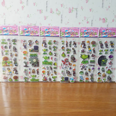 LOT 12 PCS, Plants vs. Zombies Stickers Send children gifts FREE SHIPPING